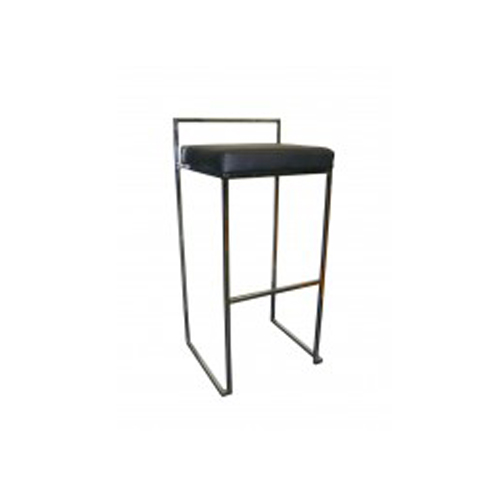 Black Stool With Back Chair Hire Co