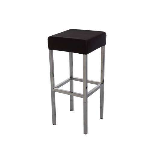 Black Cushion Stool no back Chair Hire Co : black bar stool from www.chairhireco.com.au size 518 x 517 jpeg 52kB