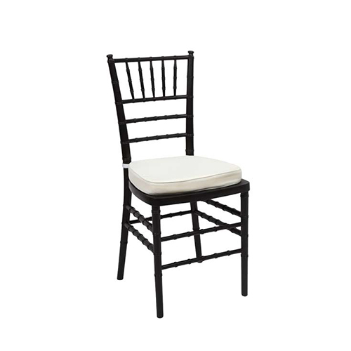 Black Tiffany Chair Amp White Cushion Chair Hire Co