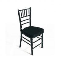 Black Tiffany Chair & black cushion