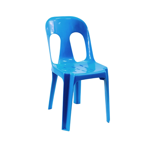 Blue plastic chair chair hire co