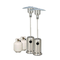 Package 3 – 2 x Mushroom heater with gas bottles included