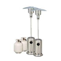 Package 3 2 X Mushroom Heater With Gas Bottles Included