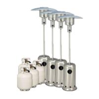 Package 5 – 4 x Mushroom heater with gas bottles included