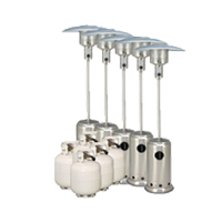 Package 6 5 X Mushroom Heater With Gas Bottles Included