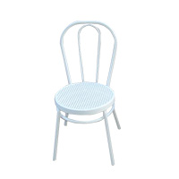 White Bentwood chair with white rattan seat (aluminium)