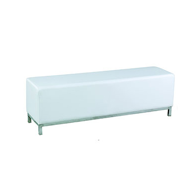Ottoman Bench White Chair Hire Co