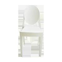 White Victorian Chair