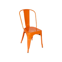 Orange Tolix chair