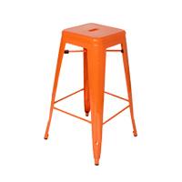 Orange Tolix Stool