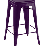 Purple Tolix stool