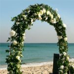 White Bridal Arch no decoration