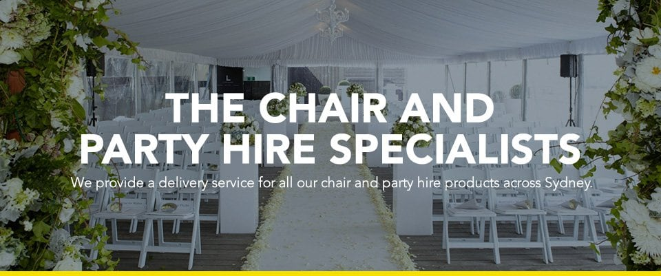 chair hire sydney banner