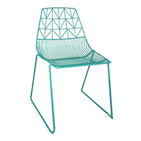Turquoise Wire Chair And Turquoise Arrow Chair