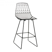 Black Wire Stool / Black Arrow Stool