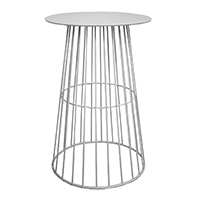White Wire Cocktail Table / White Arrow Cocktail Table