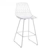 White Wire Stool / White Arrow Stool