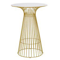 Gold Wire Cocktail Table With Glass Top