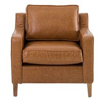 Tan Faux Leather Single Seater