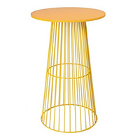 Yellow Wire Cocktail Table