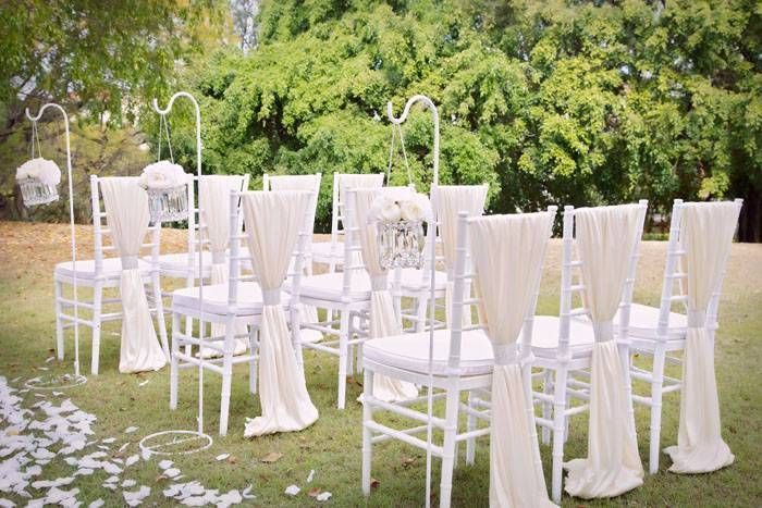 tiffany chair outdoor wedding